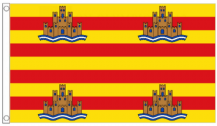 Spain Balearic Islands Ibiza 5'x3' (150cm x 90cm) Flag
